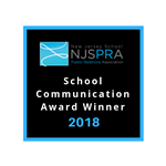 NJSPRA School Communication Award Winner 2018